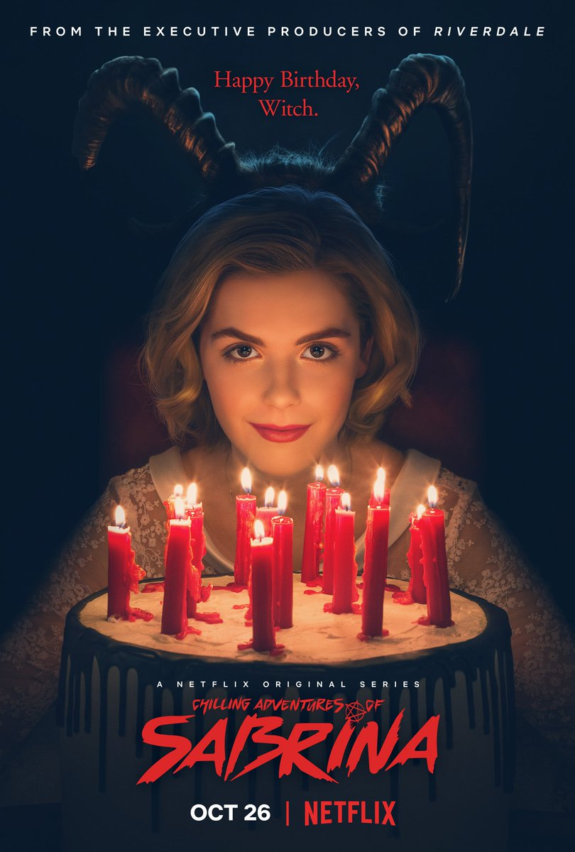 Ahhh!!! We have our first #chilling #Sabrina poster, with another treat coming tomorrow! @SabrinaNetflix, @Netflix
