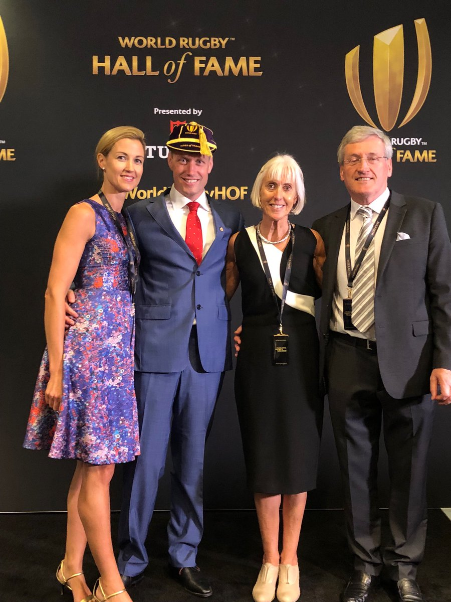 A nice photo from today. Thanks to all the people who made this possible.#WorldRugbyHOF