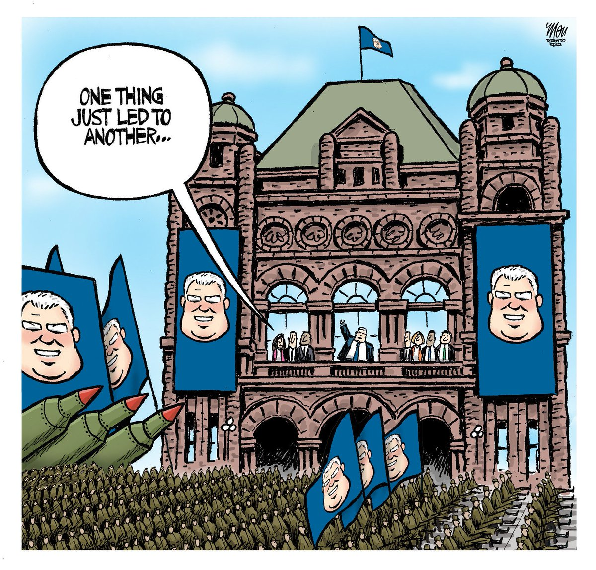 Here's Thursday's #NotwithstandingClause cartoon in @TorontoStar #onpoli