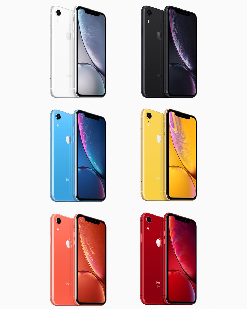 We are definitely a fan of that blue iPhone XR 😉 #AppleEvent