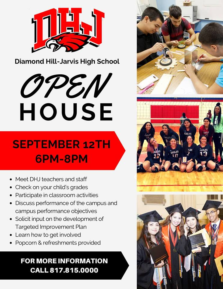 Don't forget to join us tonight at the Diamond Hill-Jarvis High School Open House from 6pm to 8pm! #AllThingsDHJ