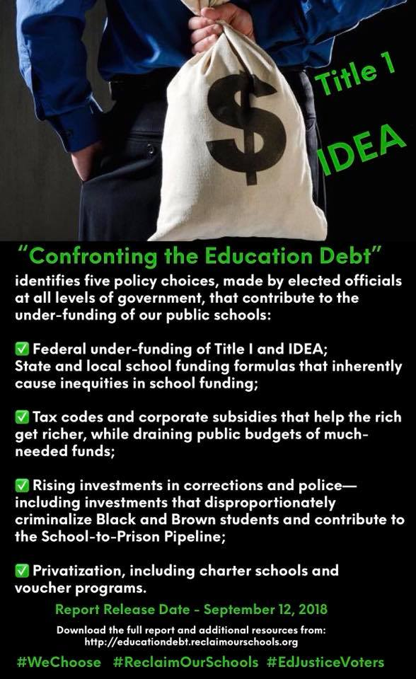 Confronting Education Debt >> Nancy Osborne On Twitter Alliance To Reclaim Our Schools