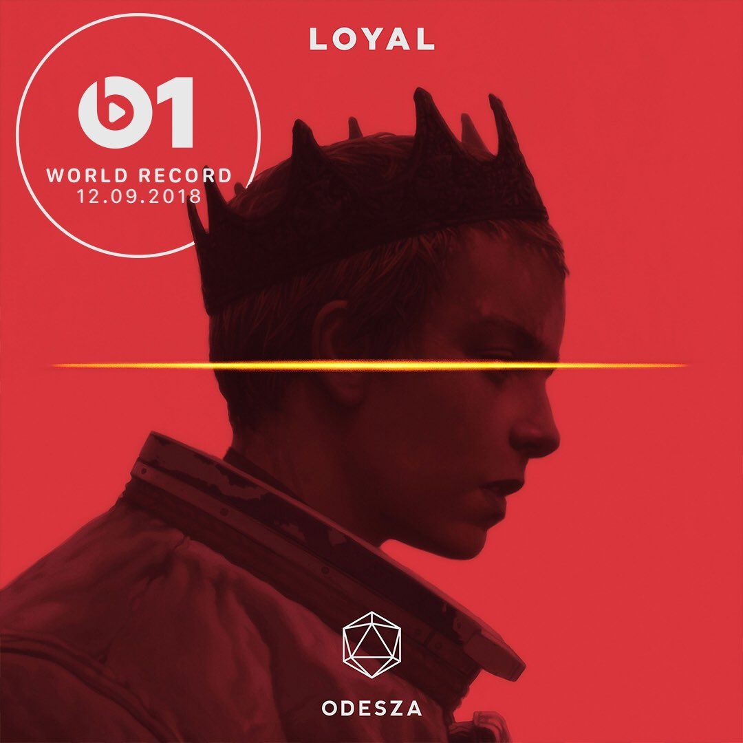 Today's #WorldRecord from @odesza 'Loyal' 👉🏼📲 LISTEN apple.co/_Loyal