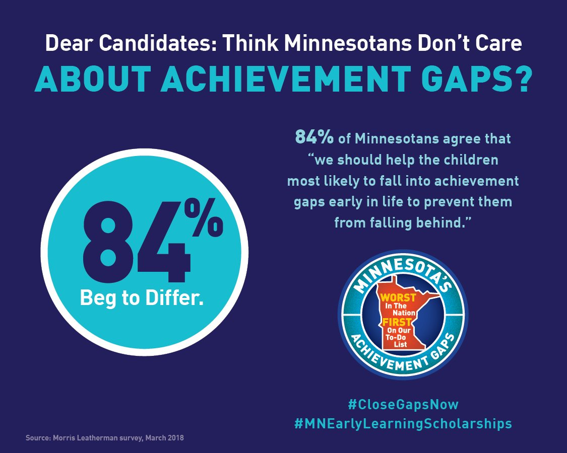 Falling Into Achievement Gap >> Close Gaps By 5 On Twitter 35 000 Low Income Mn Children Under Age