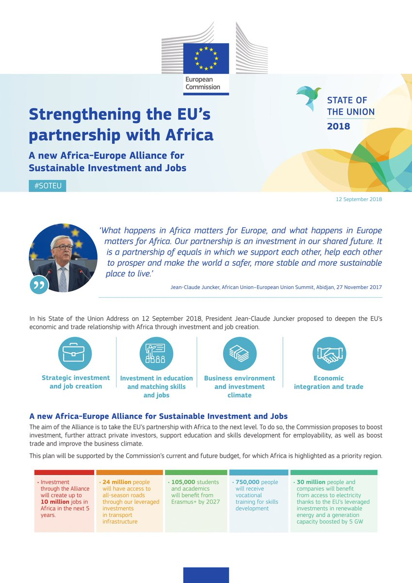 European Commission On Twitter The Goal Of The New Africa
