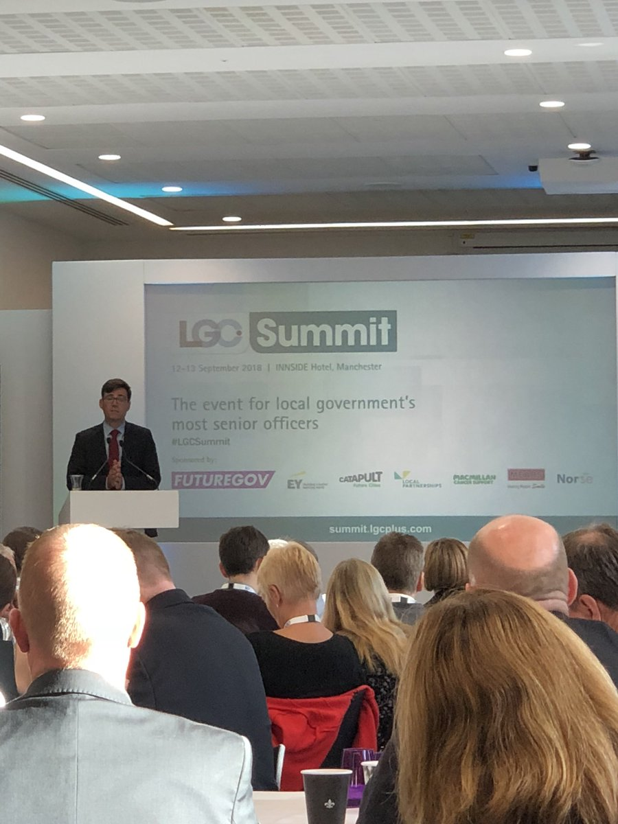 RT @LP_SeanHanson The #LGCSummit kicks off with Mayor @AndyBurnhamGM who says he wants all parts of England to have same level of devolution as @greatermcr.