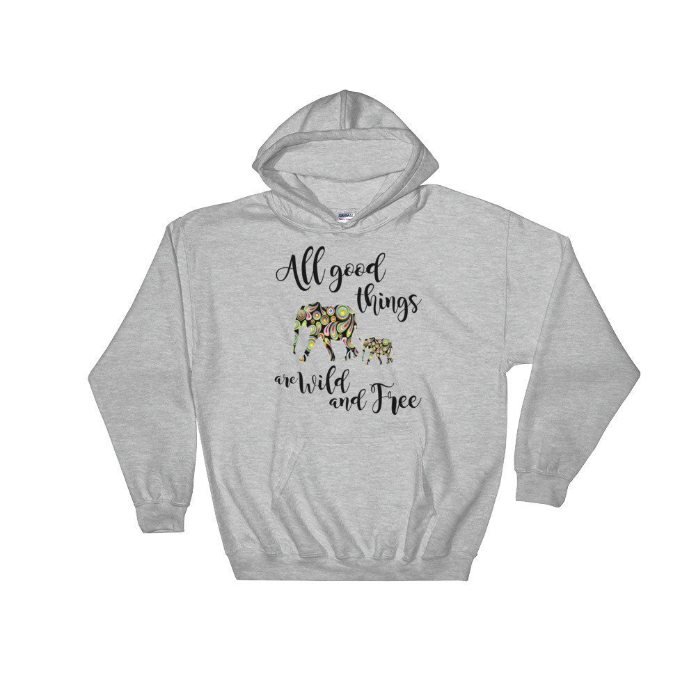 0505383c53cd8 ... my  etsy shop   Elephant Hooded  Sweatshirt