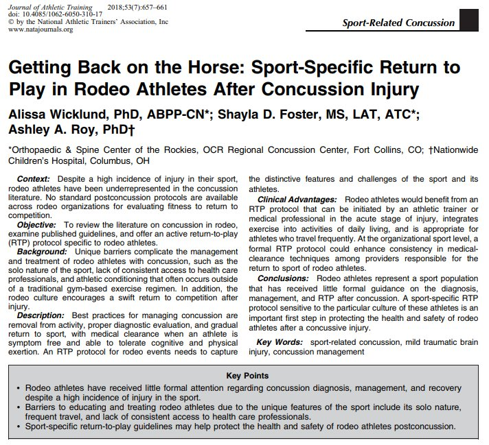 Post Concussion Return To Play In >> Journal Of Athletic Training On Twitter In The New Issue From Dr