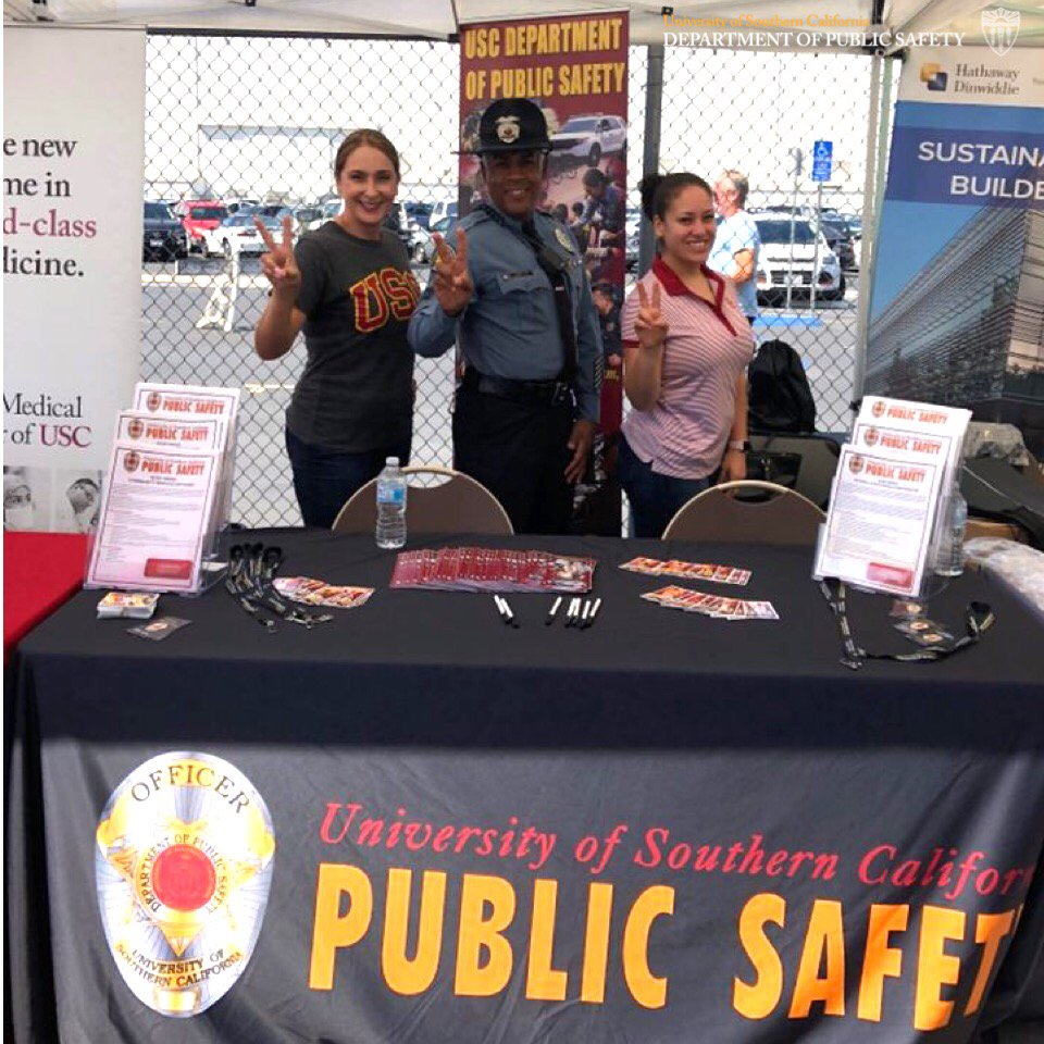 Usc Dps On Twitter Officer Jackson Participated In The Long Beach Community Job Fair With Two Usc Adminstrative Operations Human Resources Represenatives For More Information About A Career In Dps Please Visit