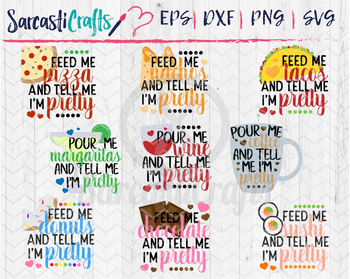 Meluhnee On Twitter New To My Etsy Shop Tell Me I M Pretty Bundle Set Of 9 Files Digital Download Svg Png Eps Dxf Cut Files Https T Co Fqzspfdrcm Tellmeimpretty Cutfile