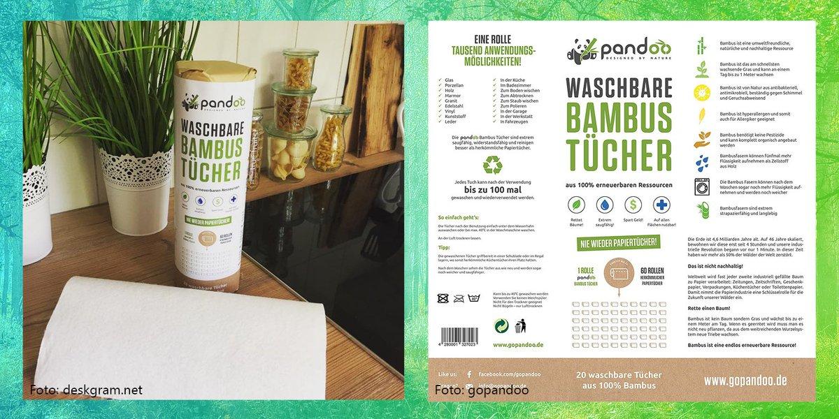 Küchenrolle 20 waschbare Küchentücher wiederverwendbar 100/% Bambus