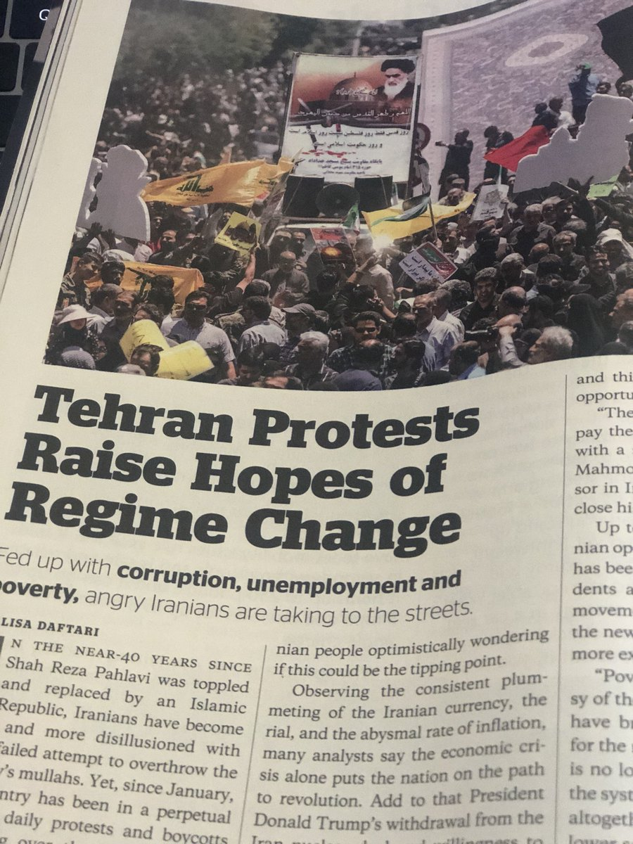 Catch my piece on #IranProtests in this month's @newsmax magazine