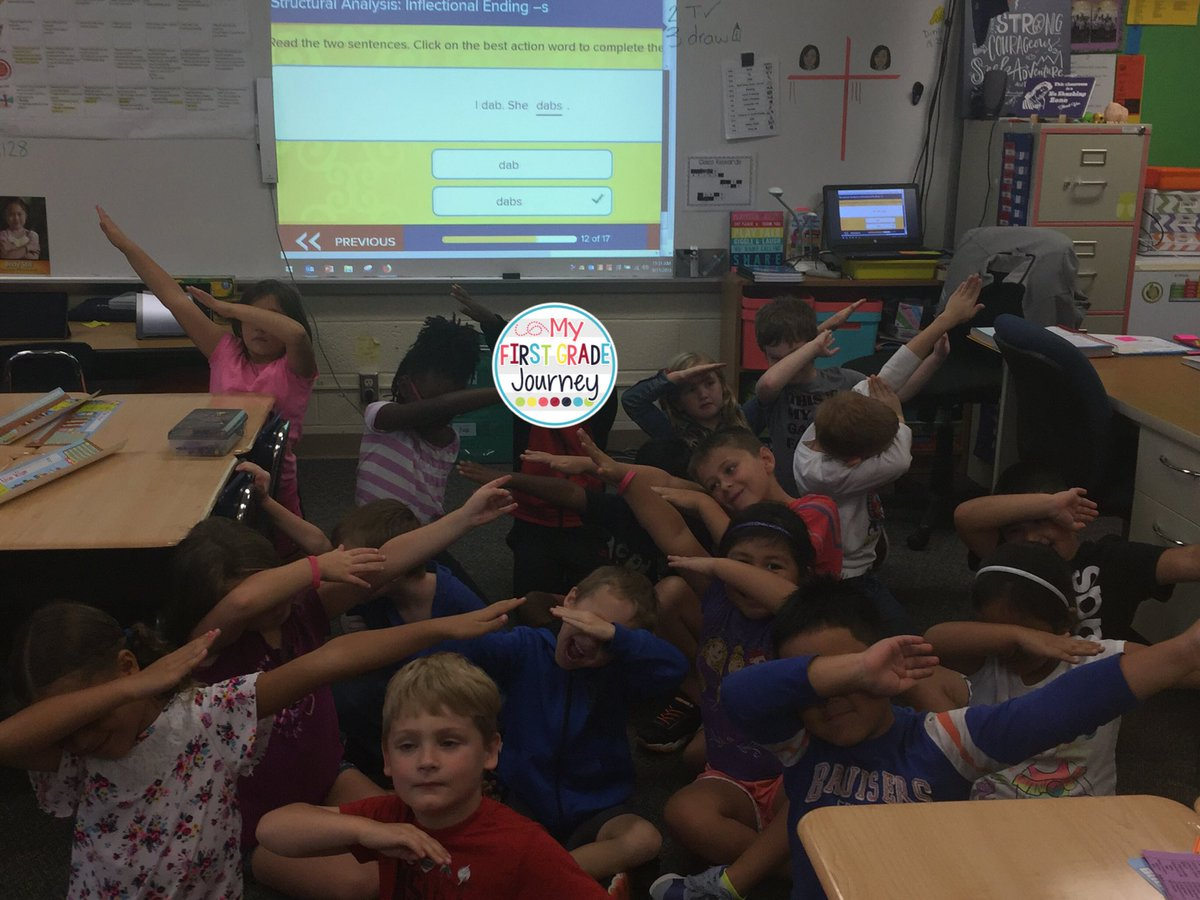 """When the new Wonders curriculum from @McGrawHillK12 says """"dab"""" you show a real world example. @usd383"""