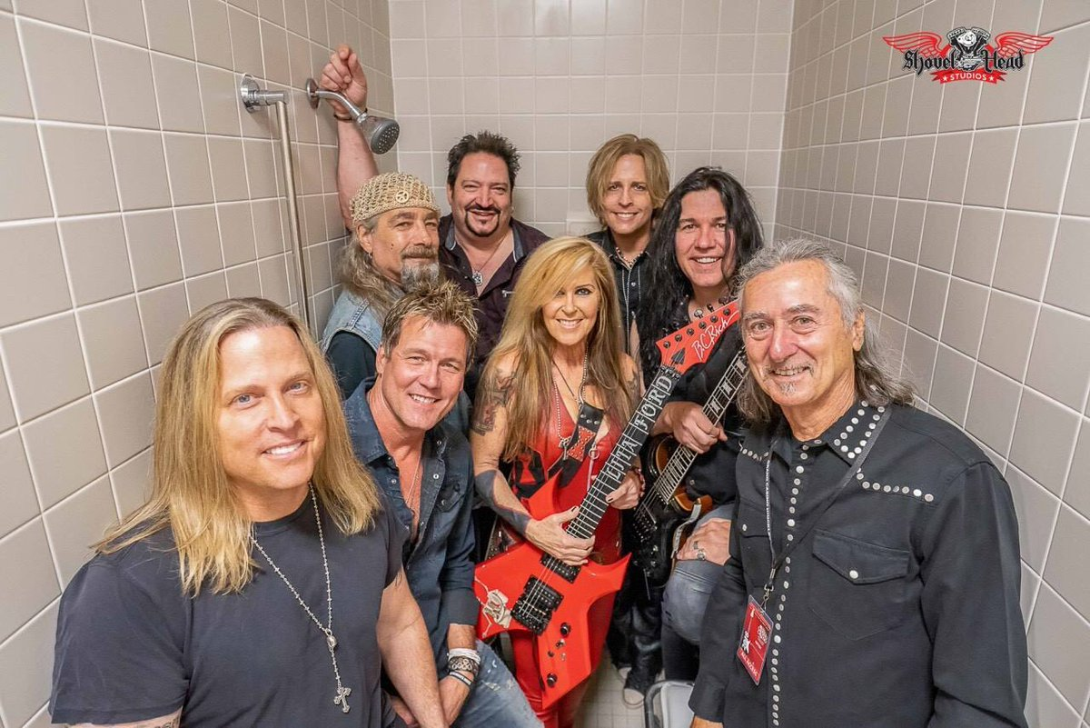 My #ScrapMetal family. Thank you so much for an incredible night in Hinckley, Minnesota. A night I will always remember & cherish! Nothing but respect! - Lita Matthew & Gunnar Nelson, Mark Slaughter, Mike Vanderhule (Y&T), Mark Holt, Gary Corbett & Barry Goudreau (from Boston)