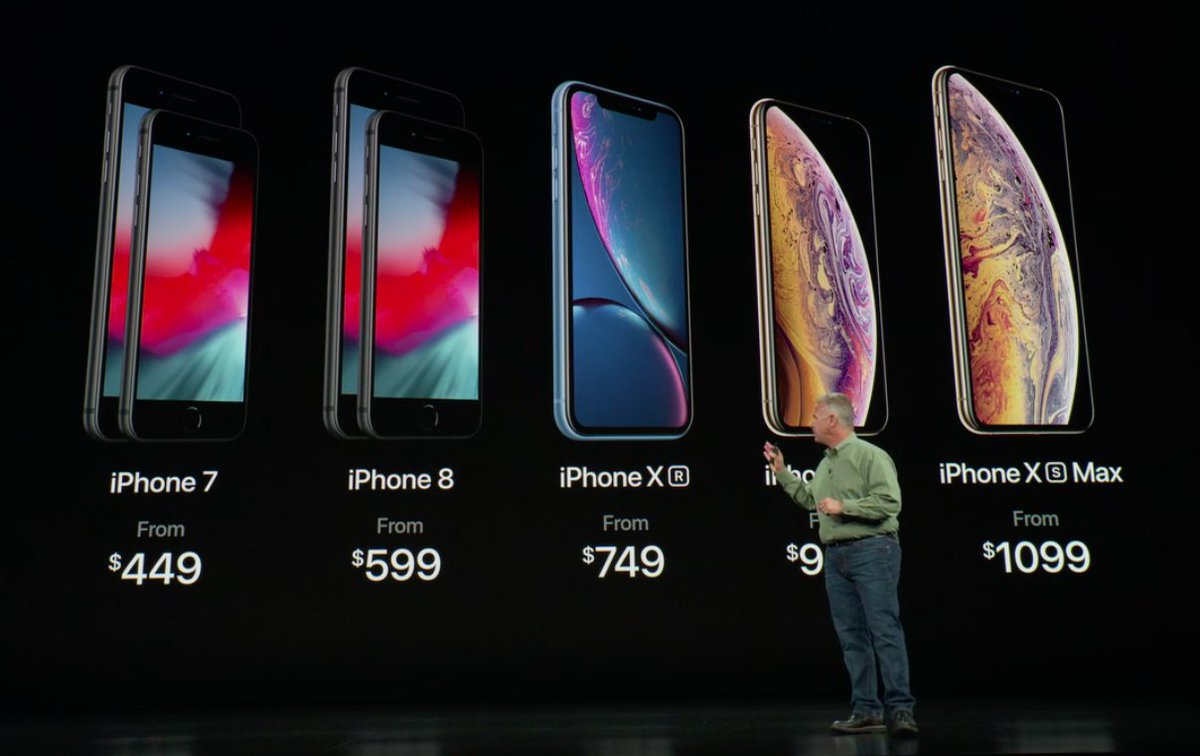 Pricing breakdown, from the iPhone 7 to the iPhone Xs Max #AppleEvent