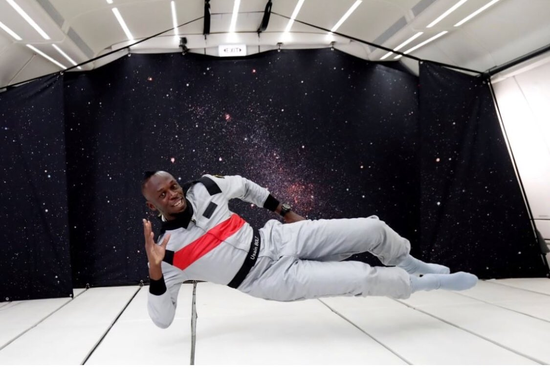 Bolt is the world's fastest man even in zero gravity (+ Photos and Video)