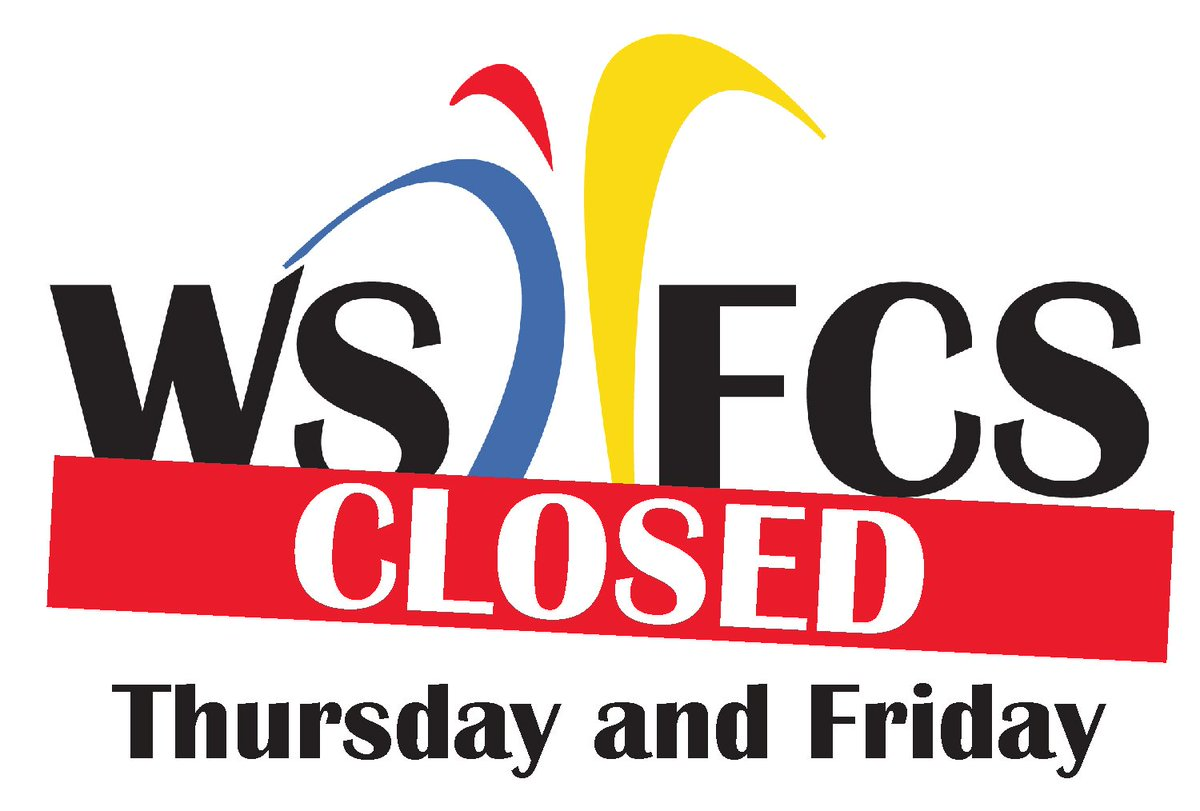 WS/FCS will be CLOSED on Thurs., Sept. 13 & Fri., Sept. 14.  All activities are cancelled beginning Thurs.-Sun., Sept. 16. If you need help or advice, go to https://t.co/d14bCVHAEo.  Please stay safe! (Las Escuelas de WS/FCS van a estar cerradas el jueves y viernes.) https://t.co/0MZrcRsKuP