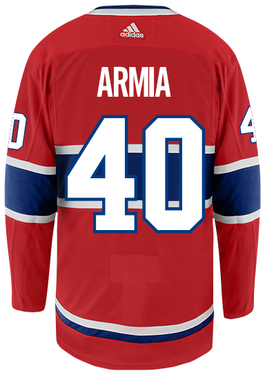 F Joel Armia will wear jersey number 40 for the Montreal Canadiens. Number last worn by Charlie Lindgren in 2016-17. #Habs Photo