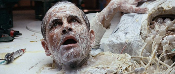 Happy birthday to Ian Holm. Photo from Alien, 1979.