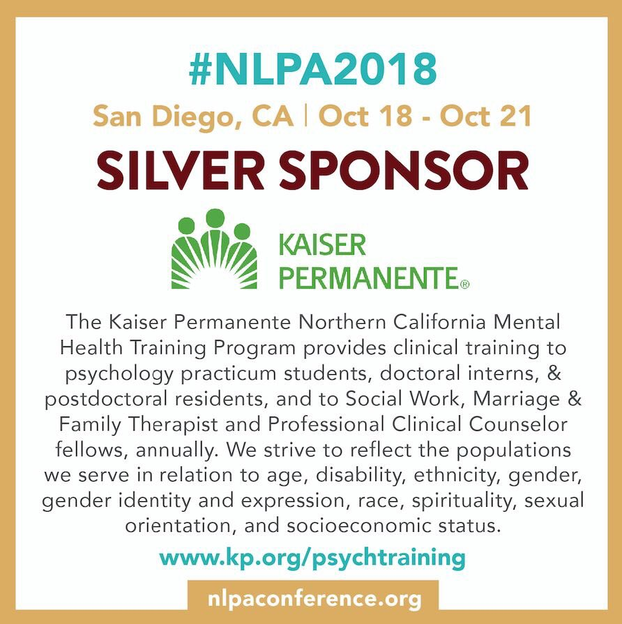 Nlpa On Twitter Nlpa2018 Thank You To The Kaiser Permanente