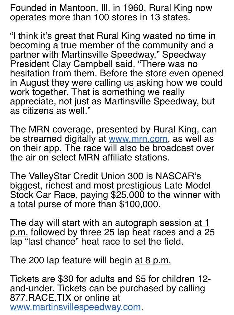 Martinsville Speedway on Twitter: