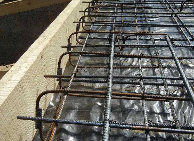 как связать арматуру для монолитной плиты