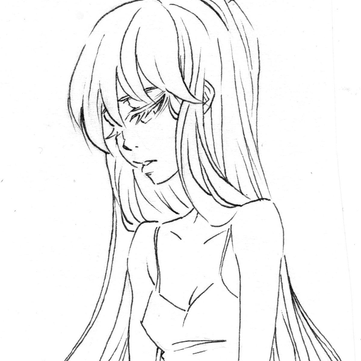 Anime Lineart Girl