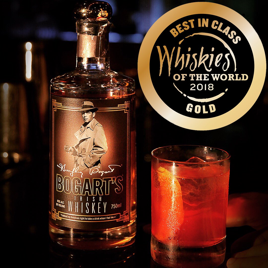Our @BogartSpirits Whiskey has won the Best In Class Gold Medal at the 2018 Whiskies of the World Awards! You can order your own bottle of our award-winning whiskey here: bit.ly/2N1fMb9. And please ask for Bogart's at your favorite liquor store!
