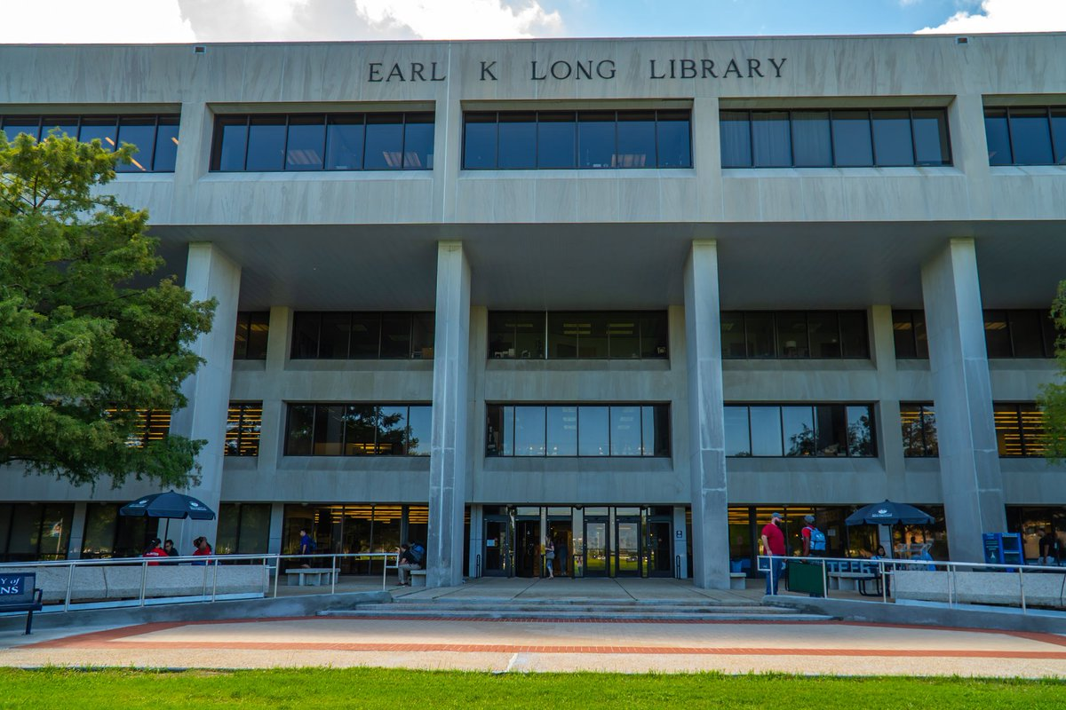 The Earl K. Long Library building
