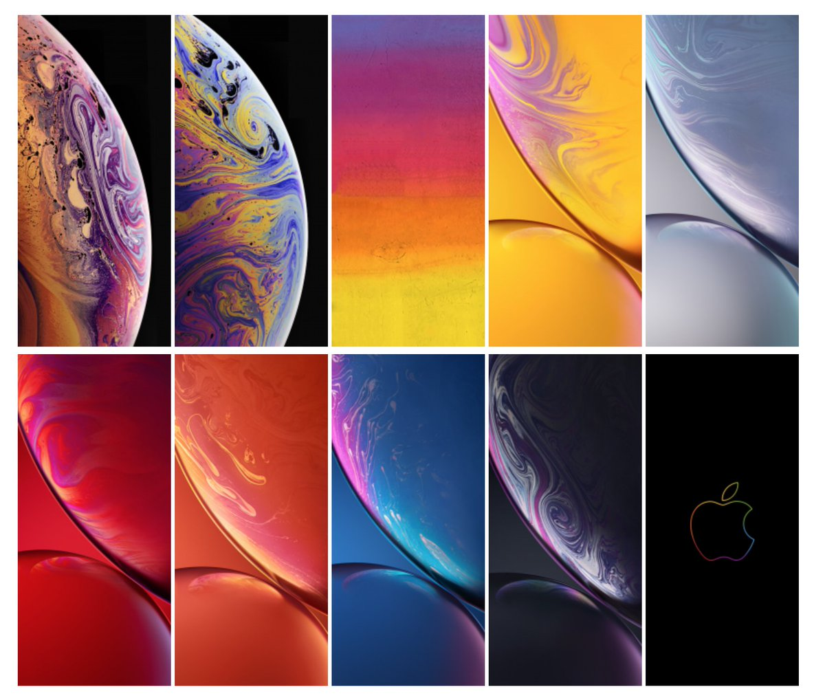 Ispazio On Twitter All The New Iphone Xs Xs Max Xr Wallpapers