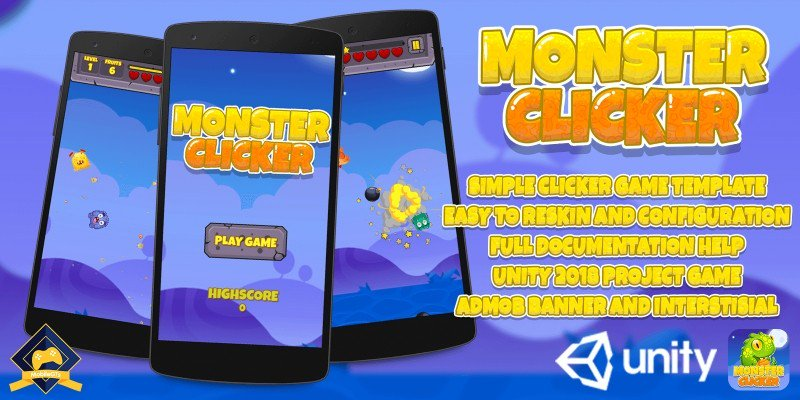 Codester Update On Twitter Monster Clicker Unity Game Source Code Gamedev Mobiledev Https T Co O8ylqvmjjn