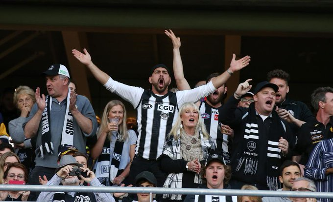 """That would be nice if the fans can have an impact there."""" A crowd of about 68,000 for #AFLPiesGiants? Where have all the Pies fans gone? MORE: Photo"""