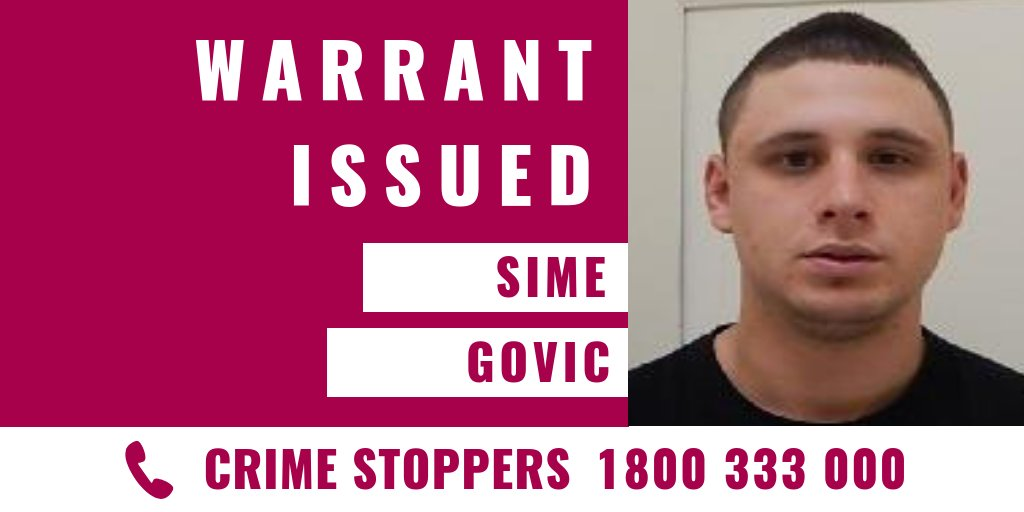 Police Are Appealing For Public Assistance To Help Locate Sime Govic Sime Is Wanted In