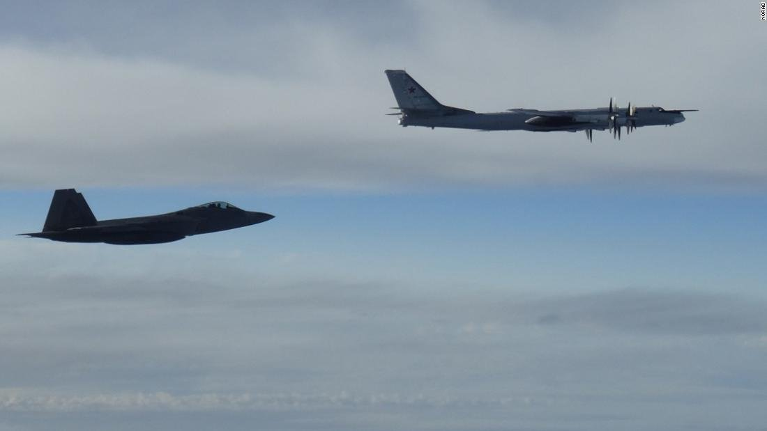 Two US F-22 'Raptor' fighter jets intercepted two Russian TU-95 bombers on Tuesday, according to a NORAD statement https://t.co/7BFnphQEbt