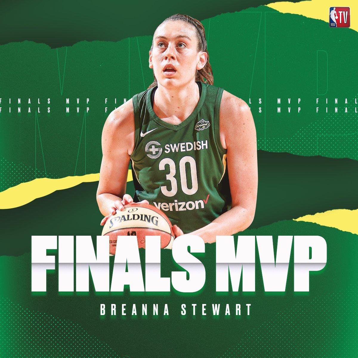 WNBA MVP + WNBA Finals MVP   What a season for @breannastewart! <br>http://pic.twitter.com/dviH7v65Rf