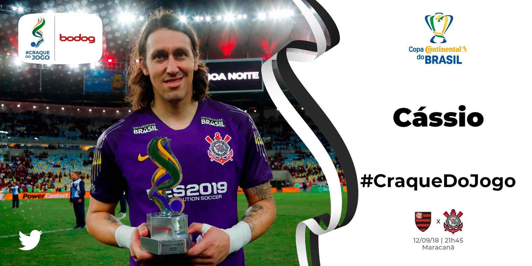 Cássio é eleito o melhor em campo e elogia vontade da equipe no Maracanã
