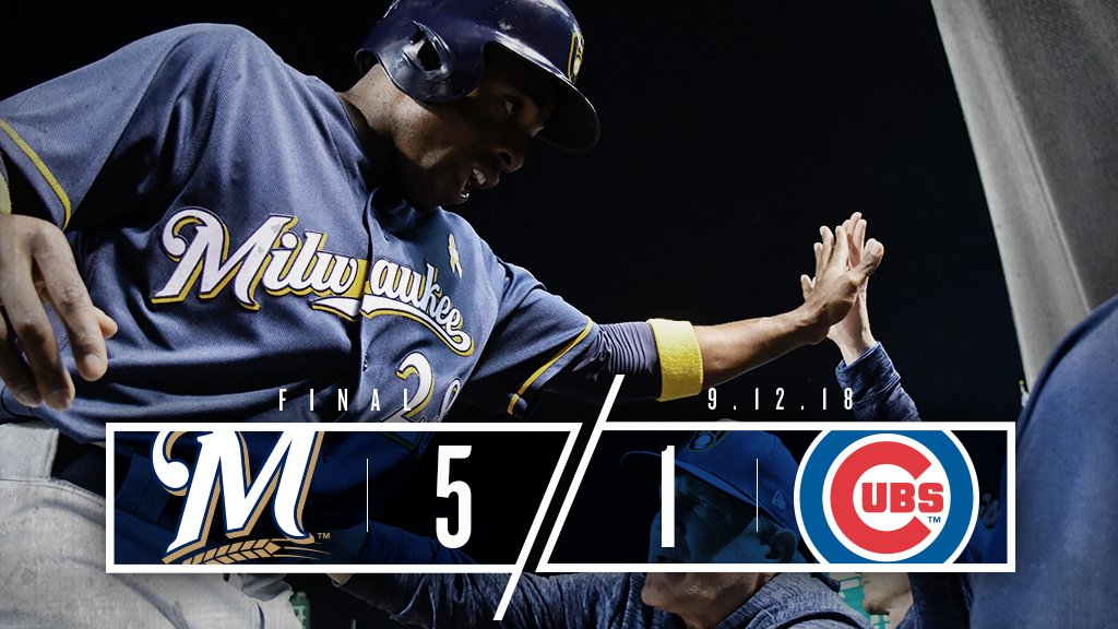 No songs were sung at Wrigley Field after tonight's game. #ThisIsMyCrew  Recap: https://t.co/ANTPeXXHLR https://t.co/OYeQUKrqOd