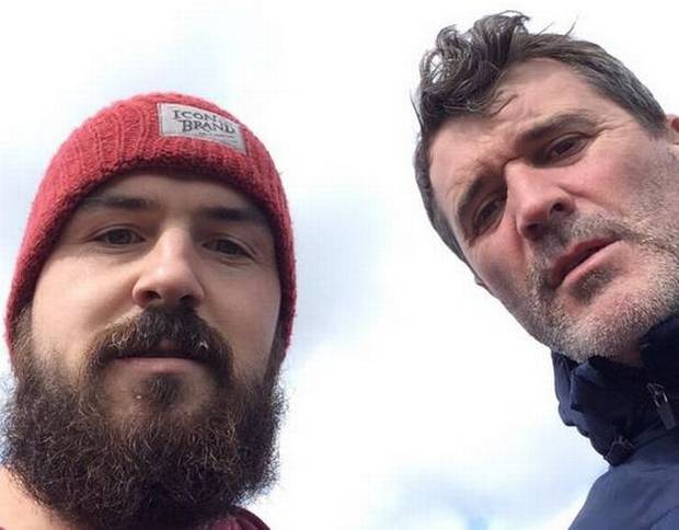 Roy Keane posing for selfies is my new favourite thing.