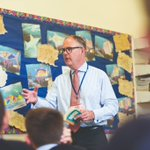 Our Headmaster @HMnewbeacon reading from Going Solo @roald_dahl a continuation of his autobiography describing his childhood when he left England for Africa & daring & dangerous adventures began. Perfect book for boys! #RoaldDahlDay2018 @GoodSchoolsUK @muddy_kent @AbsolutelyEdu