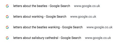 Whenever I'm feeling down I just scroll through my Letters of Note search history
