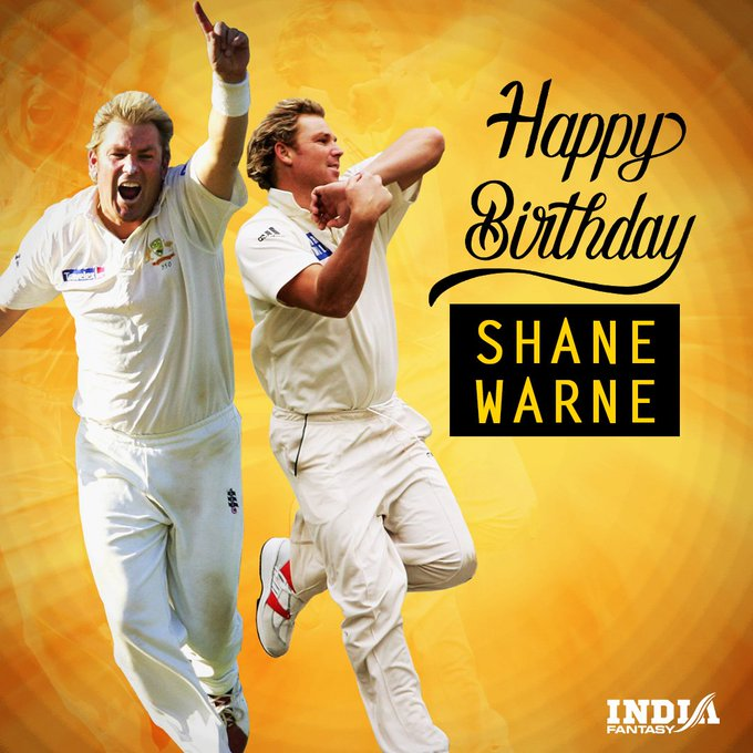 Happy Birthday to Australia legend Shane Warne