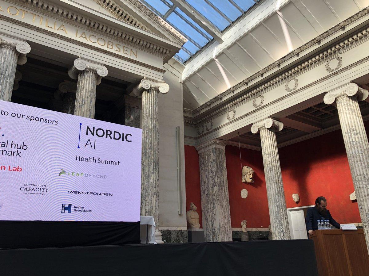 Pretty incredible venue for @Nordic_ai Health Summit in Copenhagen! Congrats @corti_ai and team for the success 💯