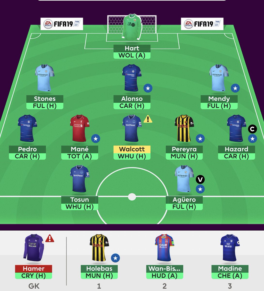 """FPL CELEBES 🦁🇮🇩 On Twitter: """"🔘 MY #FPL #GW5 SQUAD 🔒 🔘 2"""