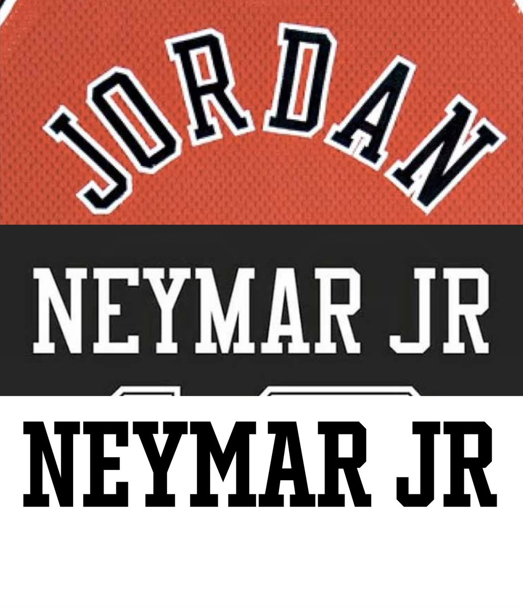 "290cc4435 ""The Jordan x PSG collabo font is the same used by '98 Chicago Bulls""  (@nss_sports_) It is not. It's a poor inharmonic interpretation: R big  headed, ..."
