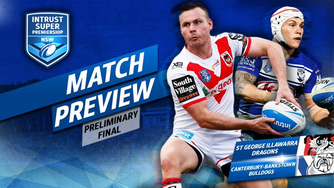Can the @NRL_Bulldogs overturn a 0-7 record versus top four teams in 2018, against the @NRL_Dragons on Sunday? #IntrustSuperPremiership 📝 Photo