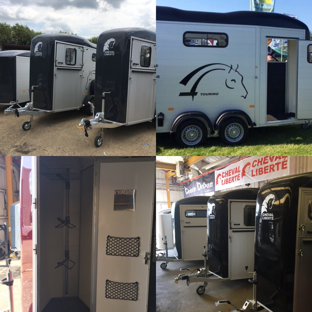 Stunning Cheval Liberte single and double horse trailers in stock. Doubles have the option of the tack room!Singles start at £4995 inc vat. Message us or please call in to take a look. #chevalliberte #touringone #touringcountry #besthorsetrailer #ponyclub #equestrianpic.twitter.com/48q4N5wNoP