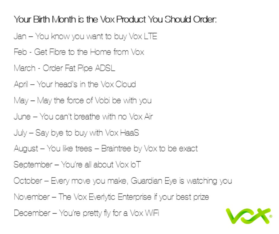 Vox On Twitter What Does Your Birth Month Say About You