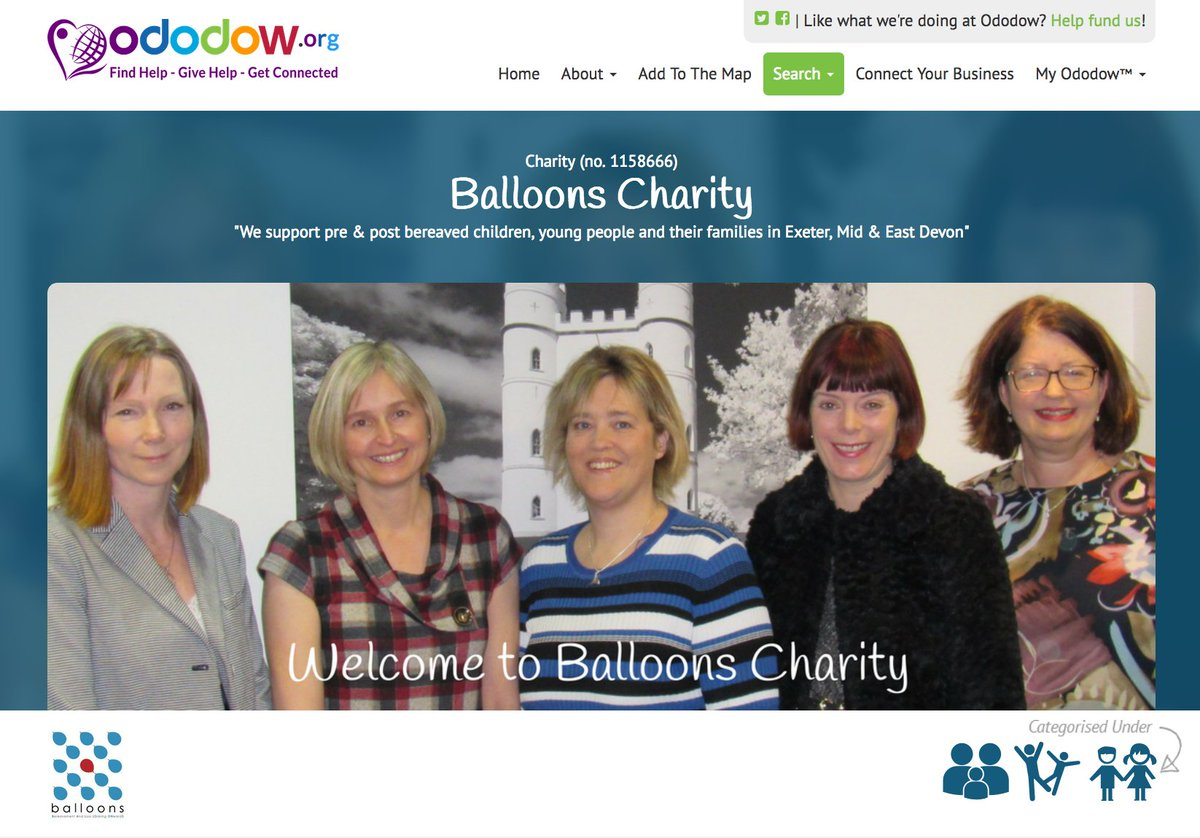 "Ododow on Twitter: ""Working with pre & post bereaved children & young people  - Giving 1-1 support @fund4balloons Find out more @ https://t.co/vOpbbseYzK  ..."