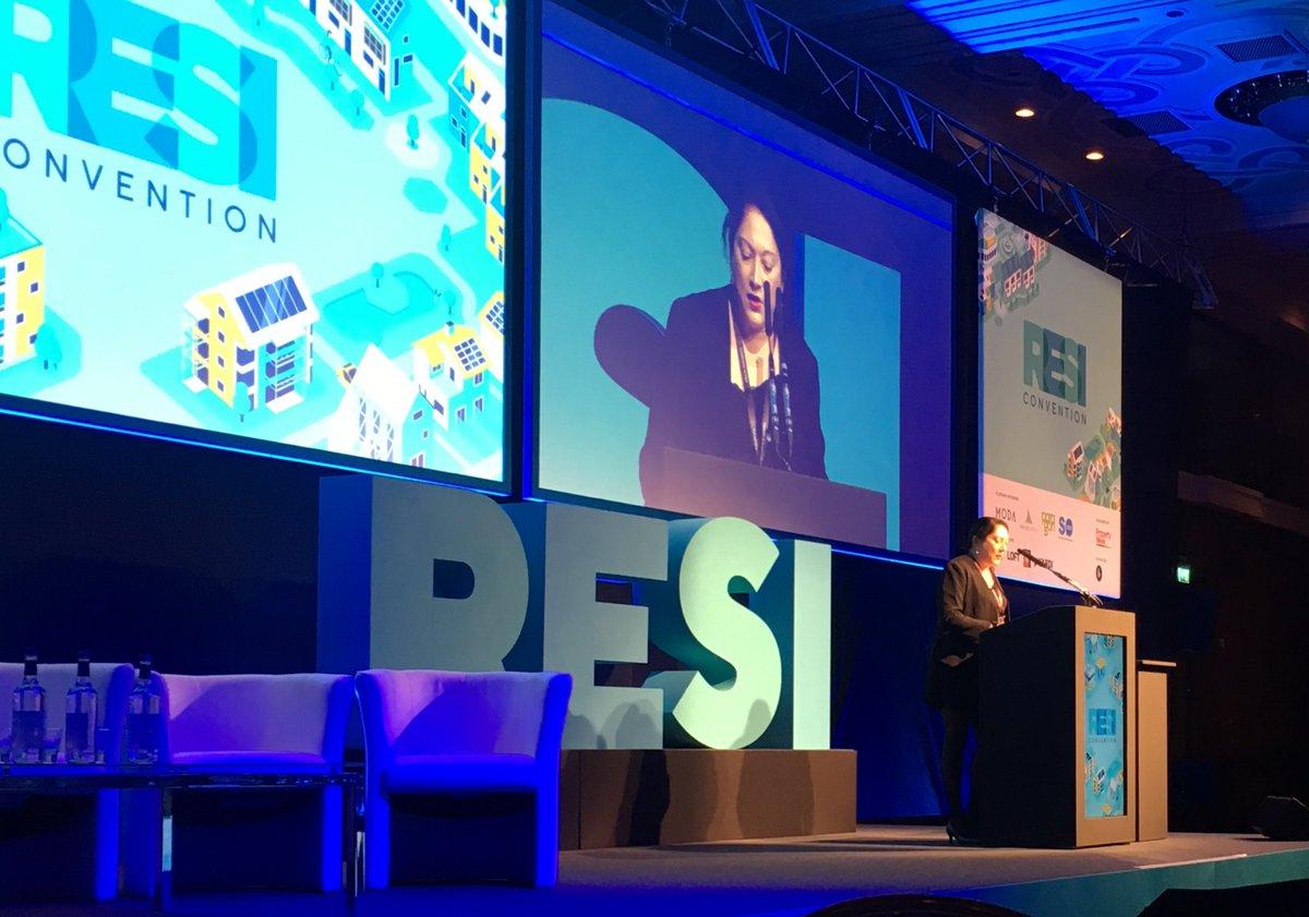 Liz Hanson editor Property Week kicks off #RESICon - stresses diversity of speakers - 37% female. #cx