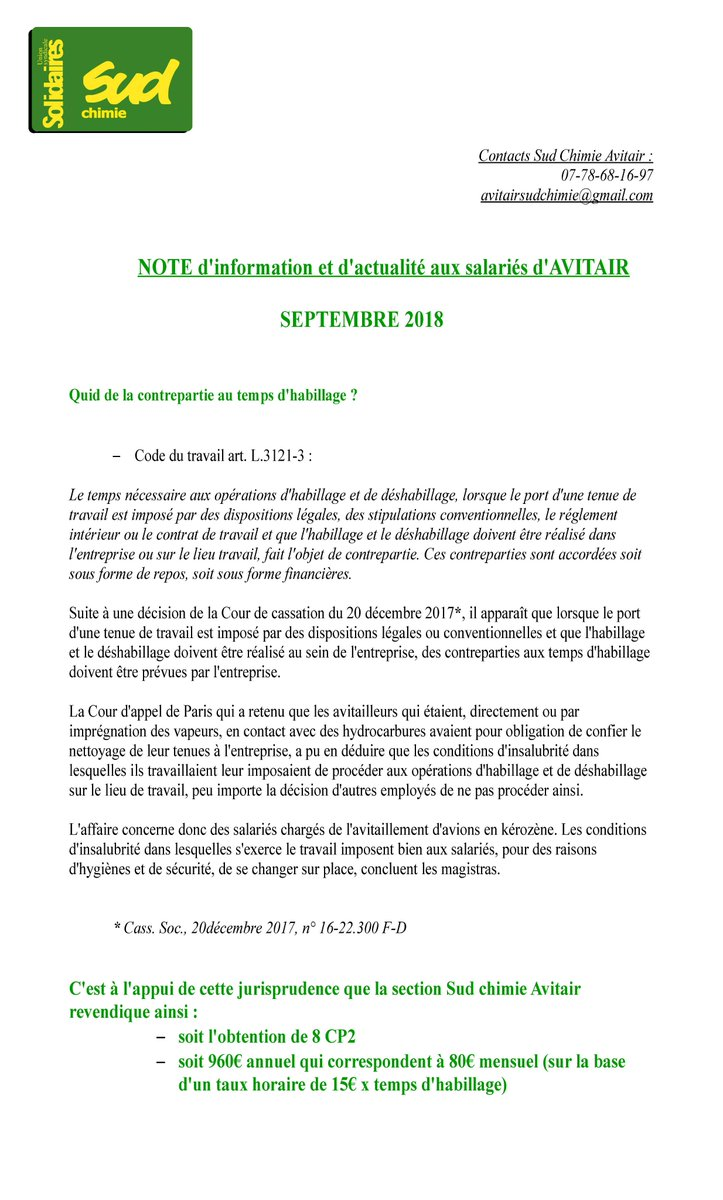 Union Solidaires 44 On Twitter Avitair Creation De La Section